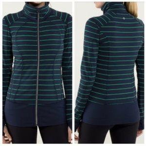 LULULEMON Nice Asana Jacket Slalom Stripe Size 8